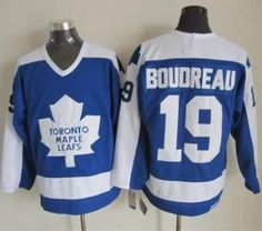 Toronto Maple Leafs #19 Bruce Boudreau Blue White CCM Throwback Stitched NHL jersey Stadium Series, Nhl Jerseys, Toronto Maple Leafs, Blue And White, Leaves, Stitch, Stuff To Buy, Hockey, Tops