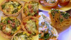 Crispy Tortilla cups filled with a tasty frittata mixture