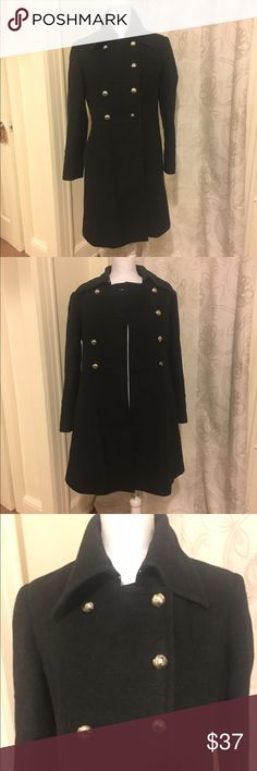 Charles Klein Gray Coat Heavy and WARM ✨ fantastic condition ✨ missing a button (see pic) ✨ only selling because I gained weight Charles Klein Jackets & Coats