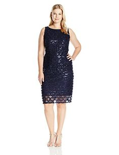online shopping for Sandra Darren Women's Plus Size SD Collection Sleeveless All Over Sequin/Mesh Dress from top store. See new offer for Sandra Darren Women's Plus Size SD Collection Sleeveless All Over Sequin/Mesh Dress All Fashion, Fashion Beauty, Fashion Women, Sequin Mesh Dress, Iconic Dresses, Womens Cocktail Dresses, Sheath Dress, Sequins, August 12