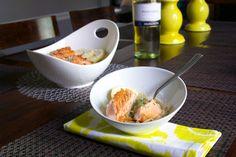 Roasted Garlic Salmon with Linguine