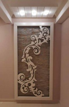 Vector dxf cdr for CNC vector file digital vector image 2 Wood Plank Ceiling, Wood Planks, Cnc Cutting Design, Laser Cutting, Home Interior Design, Interior Decorating, Laser Cut Panels, Plafond Design, Room Partition Designs