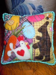 Wool Crazy Pincushion Tutorial