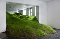 Artist Per Kristian Nygård created Not Red But Green, a grass sculpture installation that was shown at the No Place Gallery in Oslo, Norway.