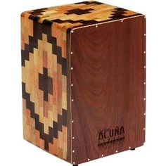 Cajon Drum Box, Aztec design. Beautiful sound and aesthetics.