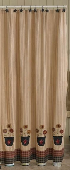 country inspired shower curtains