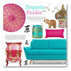 White Studio Apartment, Interior Decorating, Interior Design, Barbie Dream House, Macarons, Love Seat, Turquoise, Polyvore, Furniture