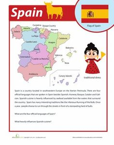 Worksheets: Spain Facts
