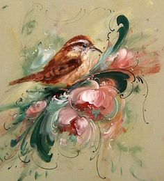 Wren and Rosemaling (Download Only) - Jansen Art Store