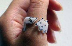 Is this a shrinky-dink ring??  So cute!