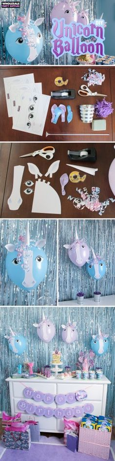 Balloon Unicorn DIY with free printable