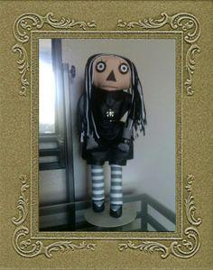 Gothic Raggedy Ann doll