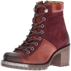 FLY London Women's Leal689fly Combat Boot ($231) ❤ liked on Polyvore featuring shoes, boots, steel toe shoes, steel toe military boots, laced up combat boots, steel toe combat boots and lace up combat boots