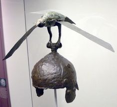 Celtic helmet with a complete winged-bird crest from the 3rd century BC, found at Ciumesti, Romania.Source