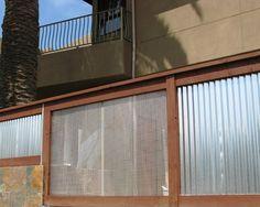 Corrugated Steel | Contemporary Landscape Fence Design