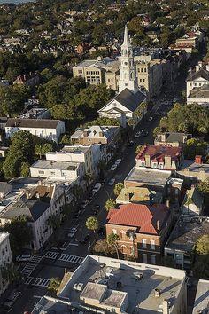 The historic district in Charleston, South Carolina