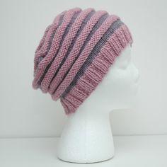 Rillelue barn/dame (oppskrift) | MAJAS HOBBYKROK Knitted Hats, Knit Crochet, Diy And Crafts, Winter Hats, Beanie, Knitting, Crocheting, Fashion, Long Scarf