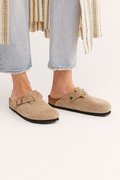 Boston Birkenstock Slip-On at Free People, Tan, EU 37 Grunge Style, Soft Grunge, Tokyo Street Fashion, Black Leggings Outfit, Women's Leggings, Vans Authentic, Timberland Boots, Rainy Day Outfit For School, Clogs Outfit