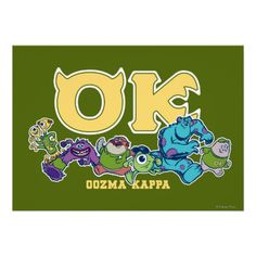 OK - OOZMA KAPPA  2 POSTERS $15.95 Disney Pixar, Disney Characters, Fictional Characters, Glossier You, Create Your Own Poster, Monster University, Monsters Inc, Activity Games, Poster Making