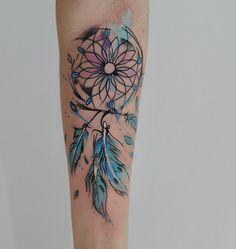 tatouage Attrape rêve Water-Color
