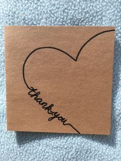 Homemade Cards, Homemade Gifts, Diy Gifts, Cute Cards, Diy Cards, Calligraphy Cards, Karten Diy, Watercolor Cards, Thank You Cards