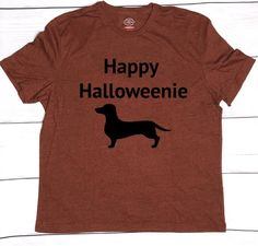 51d3d058a Items similar to Men's Happy Halloweenie t-shirt, halloweenie shirt, Happy  Halloween, men's dachshund t-shirt, dog shirt, funny halloween, halloween  tee on ...