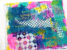 StencilGirl Talk: Carolyn Dube: Art Journaling with StencilGirl Products!