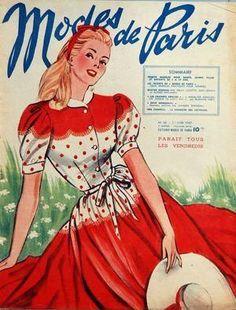 """Cover """"Modes De Paris"""" N° Du 27/06/1947"""
