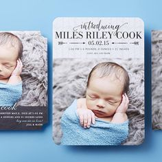 Give your new bundle of joy a proper introduction with their sweetest photos.