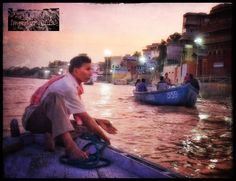 The mighty Ganges River at sunset.  Unforgettable!  Varanasi, India.