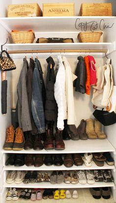 Ideas For Coat Closet Organization Ideas Entryway Shoe Racks – Top Trend – Decor – Life Style Coat And Shoe Storage, Closet Shoe Storage, Closet Shelves, Shoe Racks, Mudroom Cubbies, Coat Cupboard, Shoe Cupboard, Hall Cupboard, Front Hall Closet