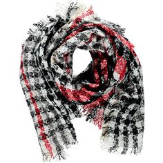 Forever21 Tartan Pile Knit Oblong Scarf (€12) ❤ liked on Polyvore featuring accessories, scarves, long shawl, knit scarves, tartan plaid scarves, fringe scarves and forever 21 scarves