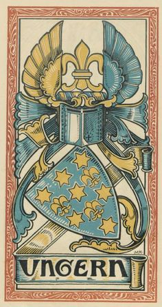 von Ungern genannt Sternberg (German) -- Baltischer Wappen-Calendar 1902 (Baltic States Coats of Arms Calendar) published in Riga by E Bruhns with illustrations by M. Kortmann.