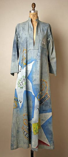 Caftan: In the 1970's we were still getting fashion ideas from foreign countries. These garments we got from Africa. These are very loose fitting with sometimes motifs from traditional Africa.