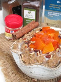 Gingerbread Persimmon Oatmeal + Product Review: BetterOats   The Oatmeal Artist