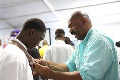 blackgivesback: Steve Harvey Hosts Over 100 Young Men at 5th Annual National Steve Harvey Mentoring Program for Young Men