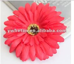 New Style !! 4inch Various Colors Gerbera Daisy Flower w Acrylic Diamond for Hair/Clothes Decoration/Decoyative flowers