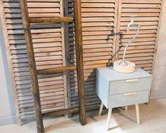 Lampada upcycled, legno grezzo e componenti idrauliche.  www.arredamentoriciclato.com