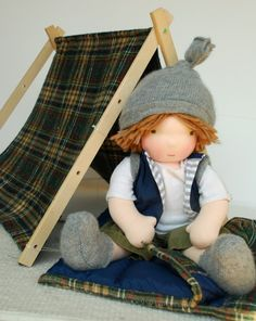 camping boy doll - I love the tent!