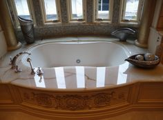 A grand bath with fabulous, natural lighting
