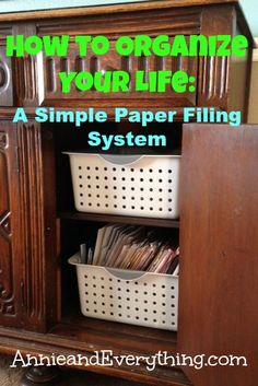 Looking for a simple method for how to organize your life paperwork? I've been using a system for years that takes little effort, space, or thought! :-)