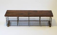 Vintage Industrial Storage Bench. Sold though :( so just for ideas