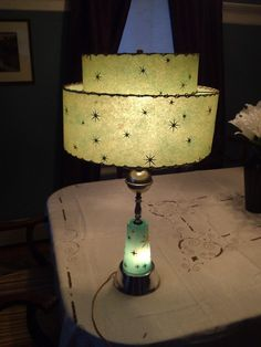 Starburst ATOMIC lighted base lamp 1950s all by NeatVintageItemsCo, $148.50