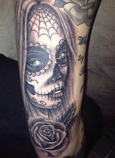 My mexican skull! Green eyes