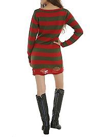 HOTTOPIC.COM - Horror Red & Green Stripe Sweater Dress | Fairfield ...