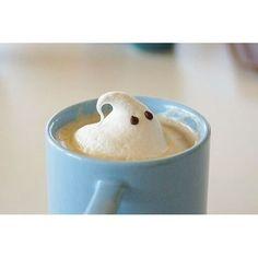 """☁️☕️ #latte #ghost #ghostlatte #chocolateeyes #yum #halloween #fall #autumn #sweaterweather #tagsforlikes #likes #coffee"" Photo taken by @autumn_scents on Instagram, pinned via the InstaPin iOS App! http://www.instapinapp.com (10/03/2015)"
