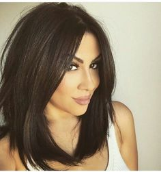 Searching for Sexy Long Bob Hairstyles? There are a plenty of variety of long bob hairstyles are available to style. Here we present a collection of 23 Amazing Long Bob Hairstyles and haircuts for you. Hair Styles 2016, Short Hair Styles, Very Long Bob, Long Dark Bob, Dark Lob, Cabello Color Chocolate, Long Bob Hairstyles, Braided Hairstyles, Trendy Hairstyles