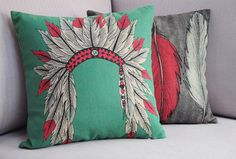 Printed Cushion Covers Indian Pattern set of 2