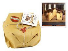 """""""Potters"""" Pecorino Cheeses : Pecorino Affinato Sotto Foglie Di Noci Kg. 1,3"""