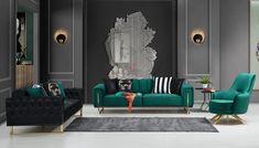Milano Modern Koltuk Takımı | mobilyambenim.com Sofa Furniture, Luxury Furniture, Furniture Design, Kitchen Cabinet Remodel, Kitchen Cabinets, Luxury Sofa, Cushions On Sofa, Sofa Design, Decoration